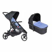 Dot Buggy & Carrycot Package - Sky