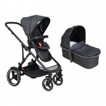 Voyager Buggy & Carrycot Package - Black