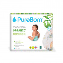 PureBorn Size 4 single pack nappy 7 to 12 kg 24 pcs - Flowers
