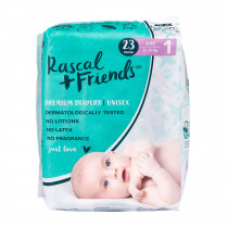 Rascals + Friends Nappies Newborn (3-5KG -23PK)