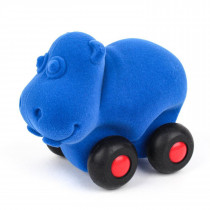 Soft  Baby Educational Toy- Aniwheelies Hippo Small- Light Blue