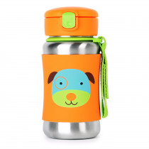 Zoo Stainless Steel Straw Bottle - Dog