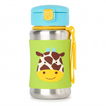Zoo Stainless Steel Straw Bottle - Giraffe