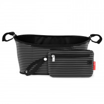 Grab & Go Stroller Organizer - Black/Grey Stripes