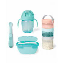 Easy-Pack Travel Feeding Set - Soft Teal/Multi