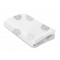 mamaRoo Sleep Bassinet Sheet  White Crosshatch