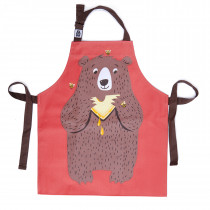 Fred The Bear Cotton Apron