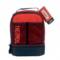 Sport Mesh Dual Lunch Kit - Maroon/Red