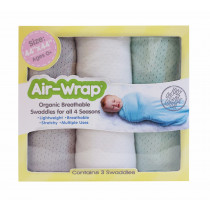 Old Fashioned Air Wrap - Gray, Snow White, Mint