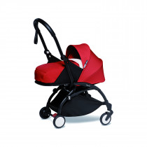 BABYZEN stroller YOYO2 FRAME Black & 0+ newborn pack - RED