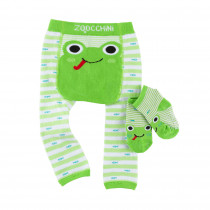 Comfort Crawler Babies Legging and Sock set - Flippy the Frog