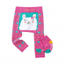Comfort Crawler Babies Legging and Sock set - Laney the Llama