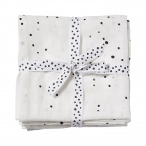 Burp cloth 2-pack Dreamy dots -White
