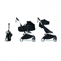 Complete BABYZEN stroller YOYO2 FRAME White  0+ newborn pack BLACK and 6+ color pack