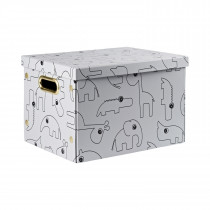 Folding storage box Contour - GREY