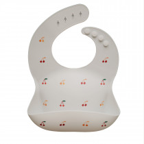 Silicone Baby Bib Printed Colors - Cherries