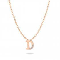 Baby Initial Pendant  Letter D, تعليقة أطفال بحرف د