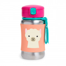Zoo Stainless Steel Straw Bottle-Llama