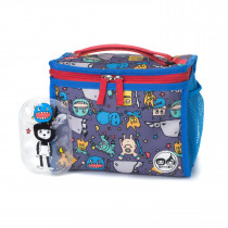 Zipped Lunch Bag & Ice Pack − Monster