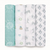 Classic 4 Pack Swaddles - Now + Zen
