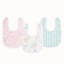 Essentials 3 Pack Snap Bibs - Tropicalia