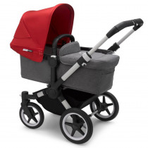 Donkey 3-Mono Grey Melange Red