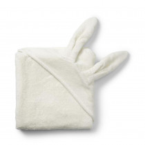 Hooded Towel- Vanilla White Bunny