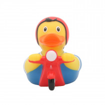 Bath Toy-Scooter Duck - red/Blue