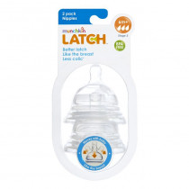 Latch Stage 3 Nipple 2 Pack - Clear