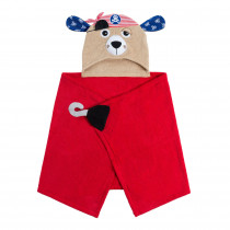 Hooded Towel - Pedro the Pirate Dog