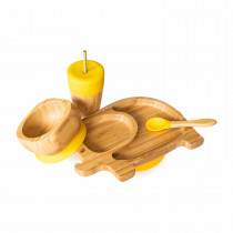 Elephant Plate, Straw Cup, Bowl & Spoon combo in Yellow