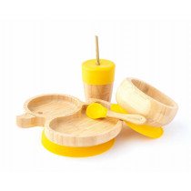Duck Plate, Straw Cup, Bowl & Spoon combo in Yellow