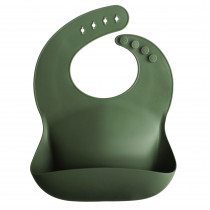 Silicone Baby Bib Solid Colors - Forest Green