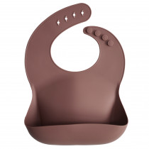 Silicone Baby Bib Solid Colors - Woodchuck