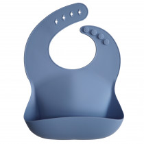 Silicone Baby Bib Solid Colors - Powder Blue