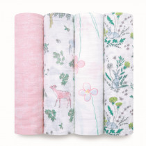 Classic 4-Pack Swaddles Forest Fantasy