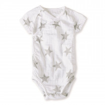 Short-Sleeved Bodysuit- Medium Silver Star 9-12 M