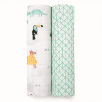 Classic 2-Pack Swaddles Around the World