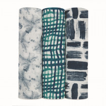 Silky Soft 3 Pack Swaddles - Seaport