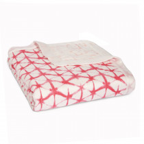 Silky Soft Dream Blanket Berry Shibori
