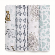 Classic 4-Pack Swaddles Jungle