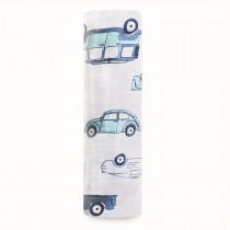 Essentials Classic Muslin Single Swaddle - Hit The Road