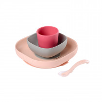Silicone Meal Set of 4 - Pink