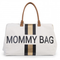 Mommy Bag Big - Off White Stripes Black/Gold