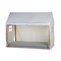 Tipi Bed Frame House Cover 90x200cm - White