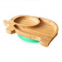 Elephant Plate with super suction base - Green