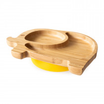 Elephant Plate with super suction base - Yellow