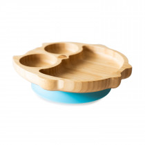 Owl Plate with super suction base - Blue