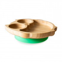 Owl Plate with super suction base - Green