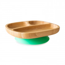 Toddler Plate with super suction base - Green